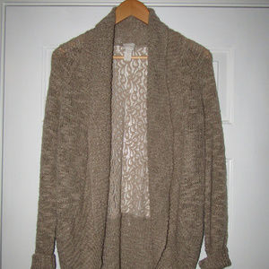 Cardigan Open Front Sweater Light Weight Sparkly